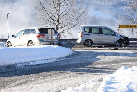 Ulykken har skjedd ved utkjøringen fra Heddalsveien ut på E 134.