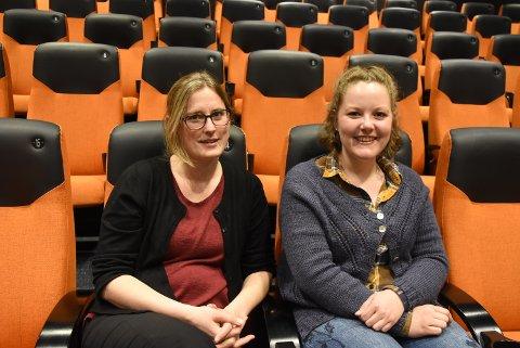 """Kinosjef Hilde Hem og kunstkurator Susanne Grina Lange håper mange benytter sjansen til å guides gjennom flotte, internasjonale utstillinger på kino i serien """"Kunst på kino"""""""