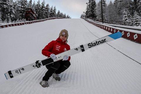 TIL VM?: Etter 1. dag av kvalifiseringen til junior-VM i hopp ligger Heidi Dyhre Traaserud an til VM-billett etter 4. plass.