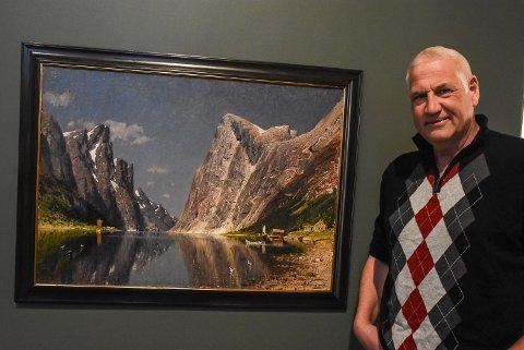 NORMANN: Dette bildet kjøpte Ottar Kaasa og May Steen hos en kunstsamler i Oslo. Nå står det utstilt i telemarksgalleriet i forbindelse med - Det ligger i vår natur.