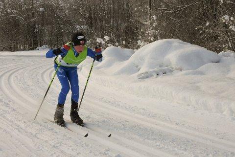VANT: Håvard Haugan Aas vant skirenn på Lampeland i romjula. Bildet er fra Sauland-rennet i 2018.