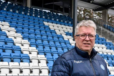 KLAR: - Vi stiller godt forberedt til kampen mot Sandefjord klokka 18.00, sier Per Arne Hansen - klar over at rival Strømmen i øyeblikket leder 2-0 over Raufoss og dermed tar den sikre plassen fra NFK om NFK skulle tape mot Sandefjord.