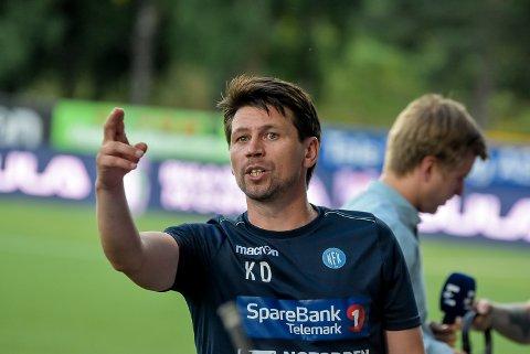 KLAR TALE: Foran helgens oppgjør mot Ull/Kisa har trener Kenneth Dokken lagt en slagplan. Følger NFK den mener han sjansene er gode.