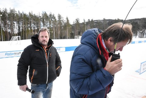 KONTROLL:  Willfred Solli og Tom Olav Hegna hadde kontroll på det som nærmet seg mål.