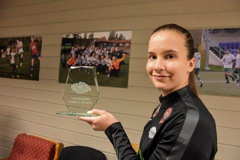 TRENE: Frida Østland Vala var den mest treningsvillige Snøgg-spilleren i fjor.
