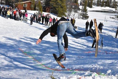 FALL: Det var svært få som kom ned på skia.