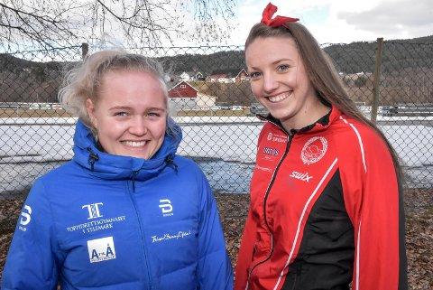 TRENE SAMMEN: Vilde Flatland og Hanna Kristine Larsen vurderer flytte sammen i Oslo. Da kan de trene sammen - og hjelpe hverandre videre i langrennssporet.