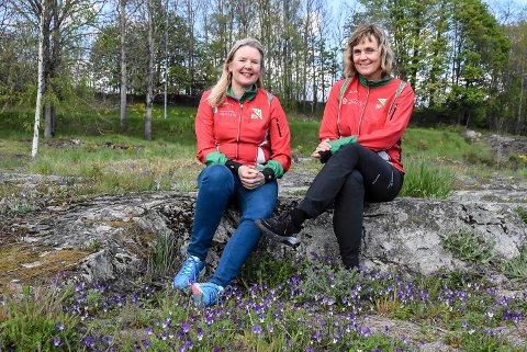 50. GANG: Britt Fossøy (t.v) og Heidi Schatvet har ansvaret for det 50. året med turorientering. Mens andre klubber kutter ut tilbudet, så holder NOL stand.