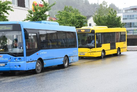 BYTTES UT: I årevis har timebussene på Notodden vært blå. Arvtakeren blir gul.