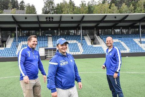 HISTORIE: Kim Marius Hjørnevik (midten) vil fortelle sin historie og viktigheten av NFK gatelag når klubben inviterer til seminar. Arve Bjerkan og Glenn Svarstad fra NFK vil også delta.