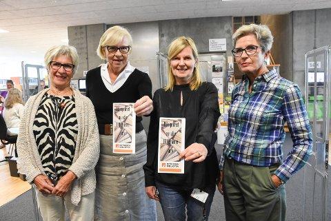 AMBISIØSE:  Inger Løken, Marianne Nedler Tinnes, Mari Ann Haugerød og Kirsti-Nina Frønæs er prosjektgruppa bak den ambisiøse maratonmøteserien.