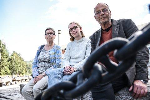 Kari Thorsteinsson, Kristine Helliesen og  Edgar Gundersen i Rødt Notodden mener Notodden trenger en kulturminneplan.