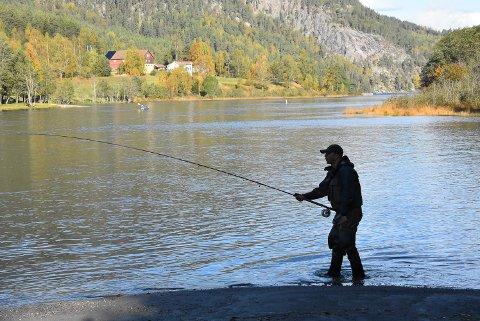 FISKESTOPP: Fra 1. oktober er det forbudt å fiske i vassdraget. I år vil man holde oppsyn for å stoppe tjuvfisket etter storørreten - og anmelde alle som fisker ulovlig.