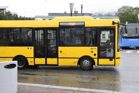 INGEN EKSTRA: Du vil ikke se disse bussene oftere under bluesfestivalen enn du gjør til vanlig.