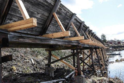 FIKK PENGER Riksantikvaren ga 2 millioner kroner til å fortsette arbeidet med å restaurere Tømmerrenna på Notodden i 2021. Men verdensarvkoordinator Juilana Strogan hadde ønsket seg mer.
