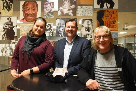 BLUESHAPPENING: Mari Beate Sannes, Runar Lia og Jostein Forsberg jobber mot en miniutgave a la 1988 som Notodden Blues Weekend og også flere konsertopplevelser utover høsten og fram mot nyttår.