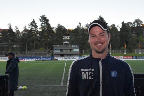 SMILTE: Magnus Erga smilte naturlig nok etter 5-1 mot Rosenborg 2.