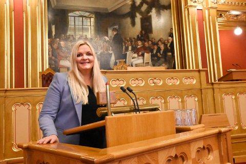 GLEDER SEG: Åslaug Sem-Jacobsen (Ap) gleder seg til å ta fatt på fire nye år på Stortinget, denne gang i en mindretallsregjering med de utfordringer det vil komme til å by på.