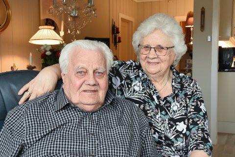 Kari og Magne Grindalen - 60 års bryllupsdag. Diamantbryllup.
