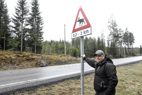 STOPP: Eyvind Haave mener Telemark Ring-prosjektet bør stoppes, og aller helst flyttes til steinfyllinga i Hjartdal. Han mener problematikken rundt det store elgtrekket i området er feid under teppet for at det ikke skal stoppe prosjektet.