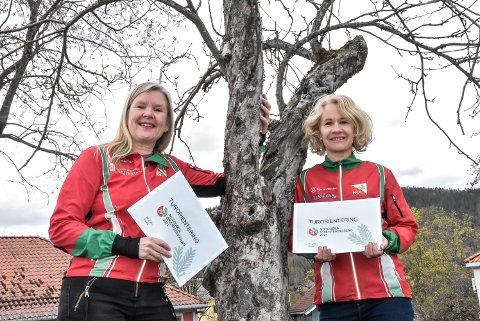 60 POSTER: Britt Fossøy (t.v) og Veslemøy Værvågen er klar med nye utfordringer til de som vil prøve seg på turorientering.