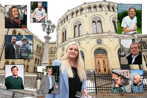 VALG: Her er stortingskandidatene våre. Åslaug Sem-Jacobsen (stort bilde) har allerede kontor og fast plass her inne på Stortinget.