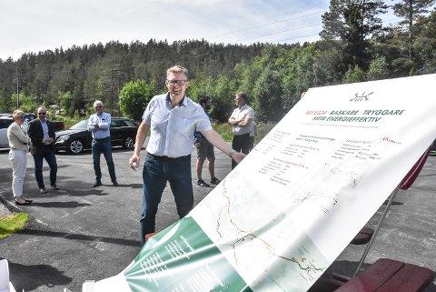 KONFERANSE: Daglig leder Pål Kårbø i Haukelivegen, er sikker på at vegkonferansen på Notodden i fjor høst var den utløsende faktoren for at Saggrenda-Elgsjø nå snart skal bygges.