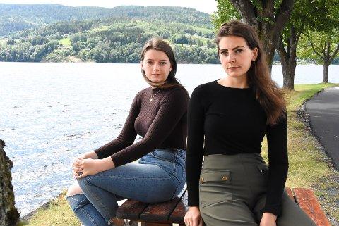 FORSØKT SVINDLET: Tomine og Kristine Kivle hadde lyst til å bruke paddleboard på Heddalsvannet denne sommeren, men det gikk ikke helt som planlagt. Søstrene mener de ble forsøkt svindlet av en useriøs nettbutikk, som de anbefaler alle om å styre unna.