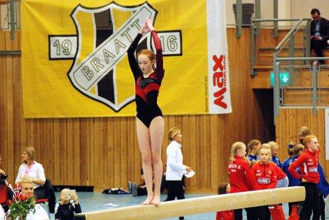 Mia Sofie Kvisvik Avset var med i nasjonal rekruttkonkurranse. Foto: Roger Naas