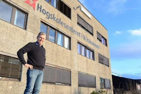Daglig leder Jøran Gården er fornøyd med årets søkertall til studier ved Høgskolesenteret i Kristiansund.