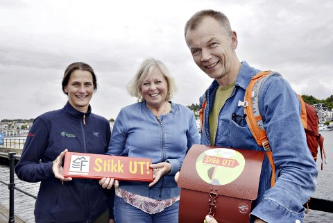 HAR TATT AV: Ingen kommuner har per nå flere Stikk Ut-registreringer enn Kristiansund. – Det har tatt helt av, sier Marte Melbø (fra venstre), Bente Elshaug og Ola Fremo.