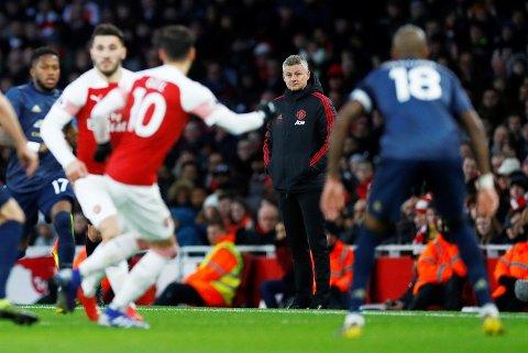 Ingen god dag på jobb for Ole Gunnar Solskjær. Søndag kveld så han sitt kjære Manchester United tape borte mot Arsenal.