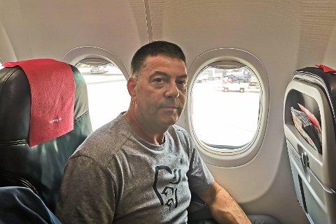 Konrad Olav Bolli er endelig på vei til Kreta.