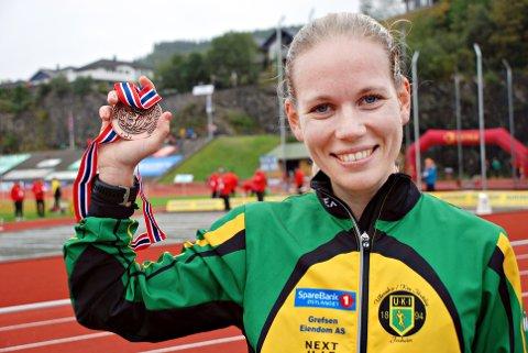 Hanne Mjøen Maridal fra Halsa ble nummer to i NM halvmaraton på Jessheim.
