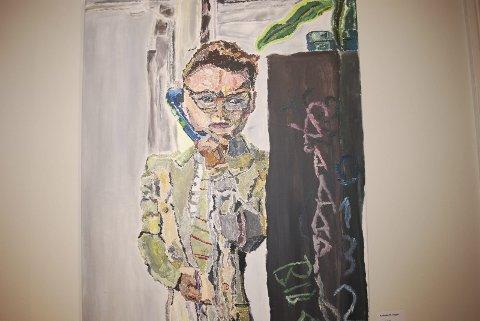 UNG TALENT: Andreas Widerøe Hagen er en ung kunstner fra Trondheim som har fått mange lov for sin talent fra blant andre kunstner Håkon Bleken. 25-åringen begynte å male da han var 13 år. Han er selvlært og for tiden er han Trøndelags mestselgende kunstner.