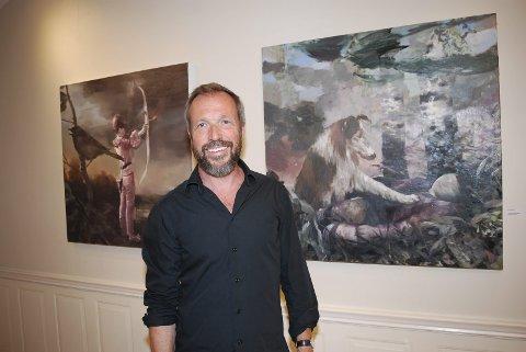 NYE ARBEIDER: Lars Elling viser helt nye bilder på sommerutstillingen i Galeri Gamle Ormelet. Flerer av dem er studier til store malerier.