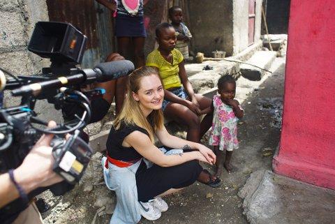 SLUM: I slummen i Haiti fikk Emilie Beck oppleve mange sterke historier.