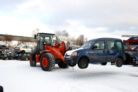 VRAK: Det ble vraket 6390 biler i Vestfold i fjor.