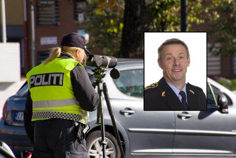 OPPGITT: Sjef for UP region sør, Øystein Krogstad, betegner tallet som skammelig høyt. Bildet er tatt under en mobilkontroll i Nedre Langgate 20. september.