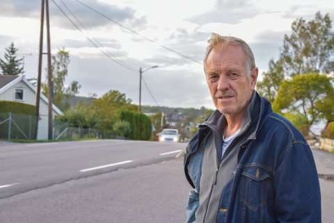 BEKYMRET: Inge Tenvik slår nok en gang alarm om trafikkforholdene i Semsveien, som går fra Borgheim til Bergan.