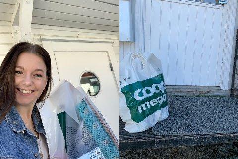 UT PÅ TUR: Senterleder Cathrine Løkken Jensrud kjører ut varer til senterets kunder.