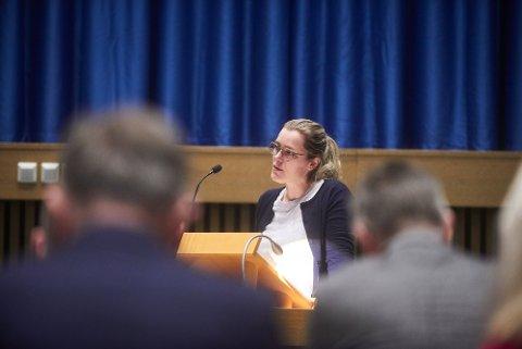 OVERRASKET: Høyres gruppeleder Christine Agdestein er overrasket over at det torsdag ble brudd mellom samarbeidspartiene i Steinkjer.