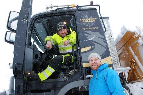 Tor Oxhovd Svalesen var svært glad for å se Odd Arne Rødningen fra Beitostølen anlegg. Foto:Tor Harald Skogheim