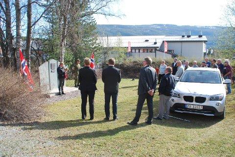 MARKERING: En takknemlig ordfører Inger Torunn Klosbøle talte til veteranene.
