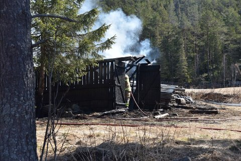 Et uthus gikk med i brannen. Foto:Sven Ingar Moen