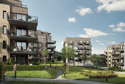 Nittedal kommune bør kjøpe ti leiligheter i Kvernstujordet boligsameie. Disse bør  benyttes til omsorgsboliger, anbefaler rådmannen (Illustrasjon).
