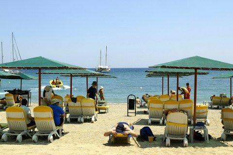 Hellas, Spania og Tyrke ligger på topp på listen over nordmenns søkedestinasjoner. Bildet er fra Kemer i Tyrkia. FPTP: HÅKON MOSVOLD LARSEN, NTB SCANPIX