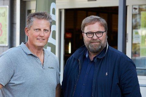 STARTET I VESTBY i 2015: Nå omsetter Thor Johansen (t.v.) og Trond Laeng (t.h.) for mange millioner, og har 160 ansatte på landsbasis.