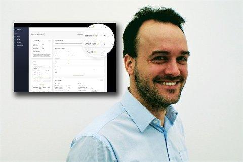 OPPFINNELSE: Martin Lang (35) har nærmest vokst opp i familiens bedrift, Baker Halvorsen i Sandefjord, som ble solgt i 2017. Han tok med seg erfaringene derfra til å skape et IT-produkt til bruk for bakere.