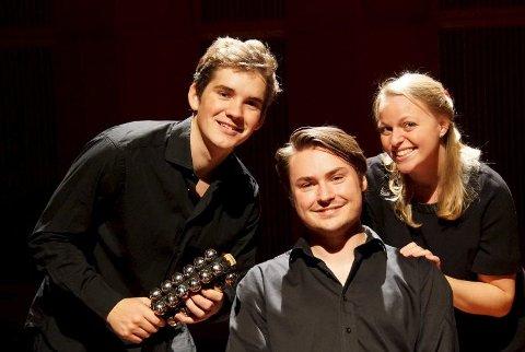 Kommer: Fra v. Sondre Høymer, Christian Lundqvist og Amalie Kongssund byr på konsert med kvalitet lørdag kveld. pressefoto